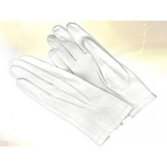 Gants cuir blanc de cérémonie