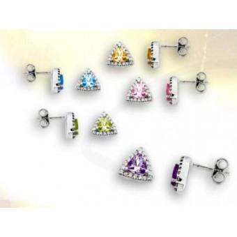 Boucles or diamant et pierre fine