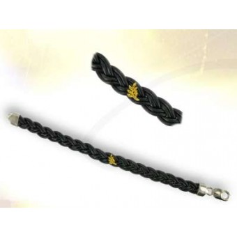 Bracelet Plat en cuir tréssé 10 mm