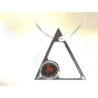 Collier Maçonnique Triangle grenat