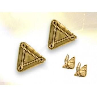 Boucles oreilles triangle Buffet  doré