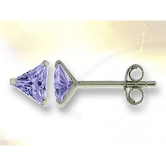 Boucles triangle oxyde violet