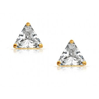 Boucles triangle oxyde or jaune