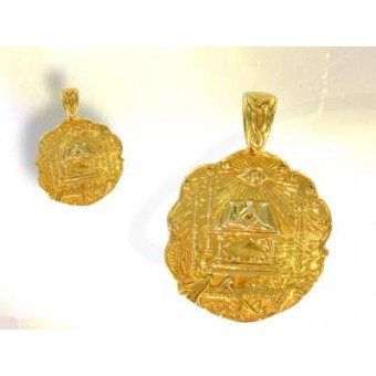Médaille maçonnique - Tapis de loge plaqué or