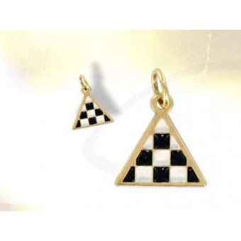 Pendentif  triangle Mosaique OR