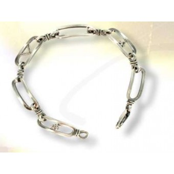 Bracelet maçonnique argent