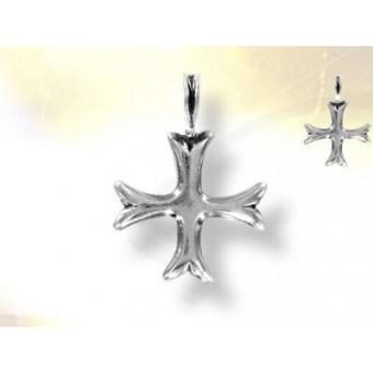 Boucle d'oreille croix des templiers