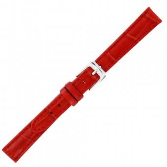 Bracelet de montre cuir rouge