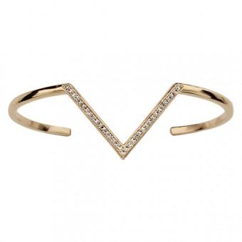 Bracelet équerre maçonnique plaqué or