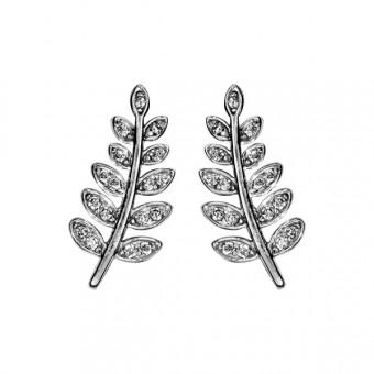 boucles d' oreilles branche acacia empierrées
