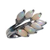 Bague maçonnique Acacia opale véritable