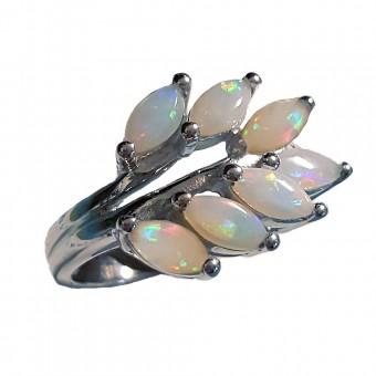 Opal acacia Masonic ring