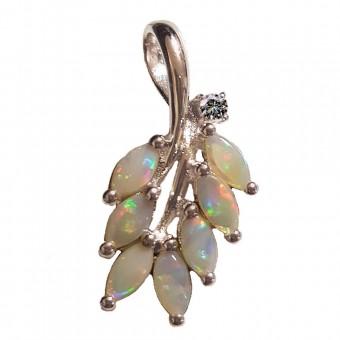Pendentif maçonnique Acacia opale véritable