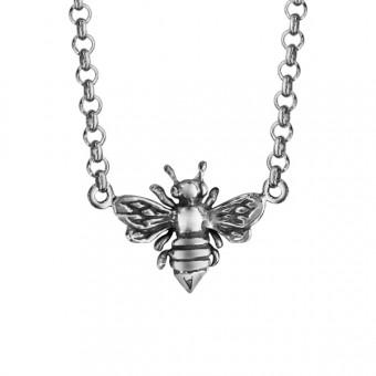 Collier symbole abeille argent