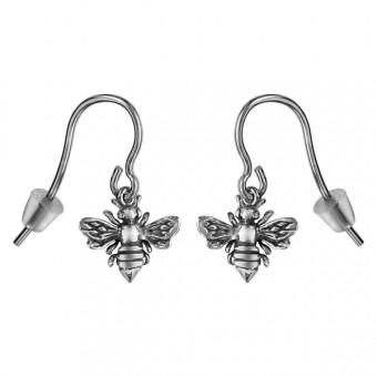 Boucles d'oreilles symbole abeille argent