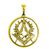 Gold masonic medal