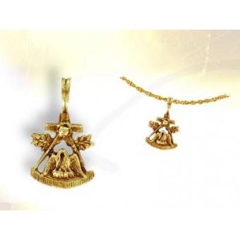 Le Pélican - pendentif maçonnique or