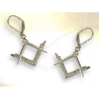 Square & Compass stud earrings