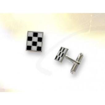 Mosaic pavement cufflinks