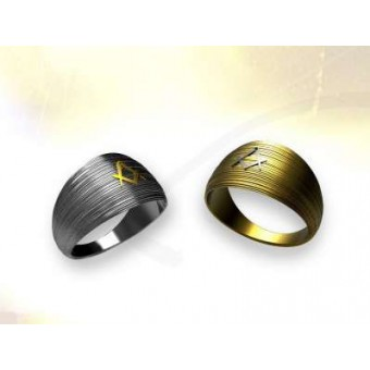 Two-colour GOLD ring