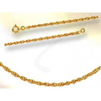 Chaîne corde or 750/1000