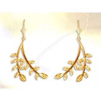 Cubic zirconia masonic earrings