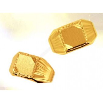Chevalière Maçonnique plaqué or