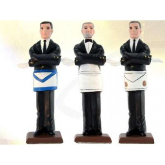 Mystic Tie - 3 masonic figurines