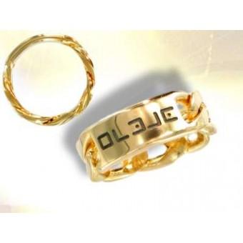 Gold Witch masonic ring