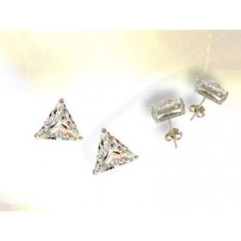 Cubic Zirconia triangle earrings