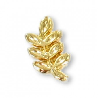 Acacia sprig lapel pin 9 mm