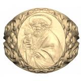 Gold plated masonic signet ring